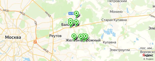 букмекерские конторы на карте Балашихи