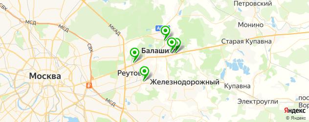 эвакуаторы на карте Балашихи