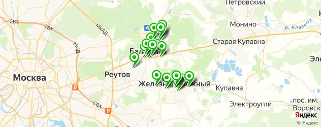 салоны оптики на карте Балашихи
