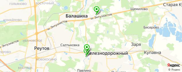 антикафе на карте Балашихи
