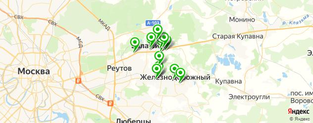 Доставка шашлыка на карте Балашихи