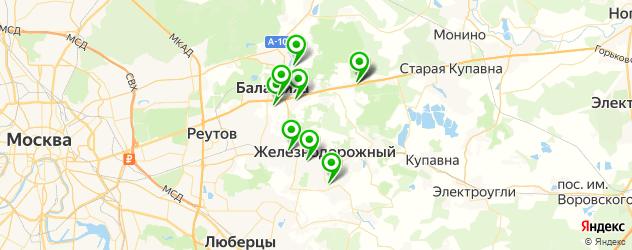 пекарни на карте Балашихи