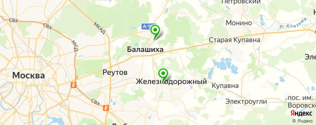 лицеи на карте Балашихи