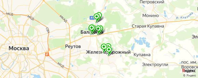 ортопедические магазины на карте Балашихи