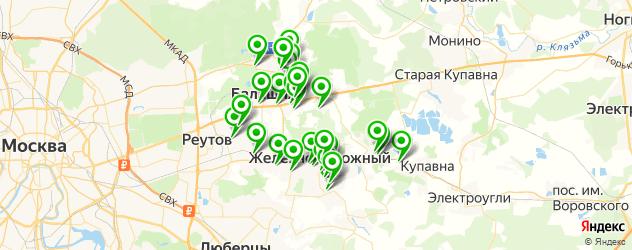 поликлиники на карте Балашихи