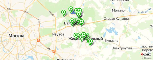 массажные салоны на карте Балашихи