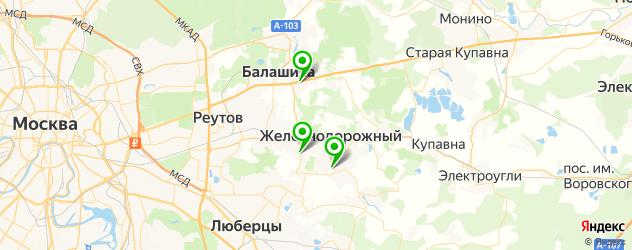 столовые на карте Балашихи