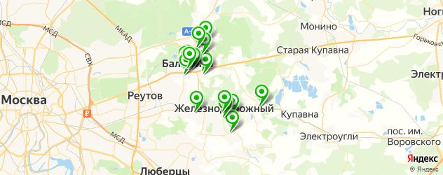 банки на карте Балашихи