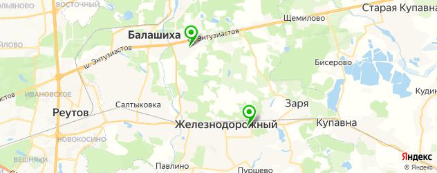 театры на карте Балашихи