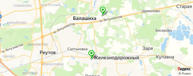 академии на карте Балашихи