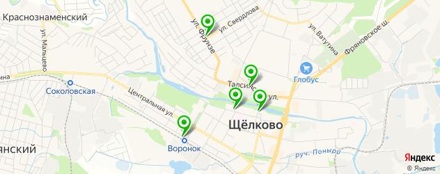 бары с танцполом на карте Щелково