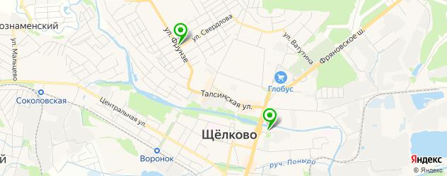 японские рестораны на карте Щелково