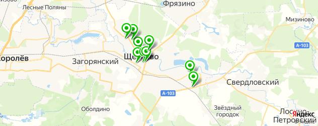 салоны бровей на карте Щелково