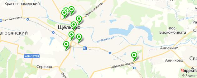 меховые ателье на карте Щелково