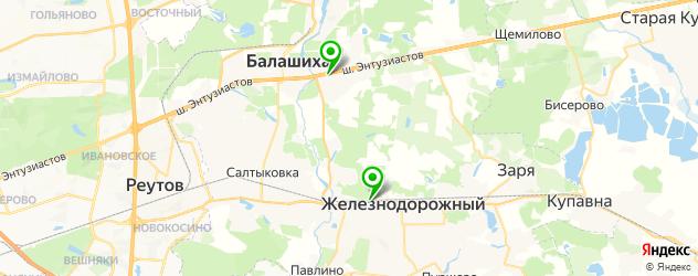 скалодромы на карте Балашихи