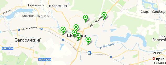 бани на карте Щелково