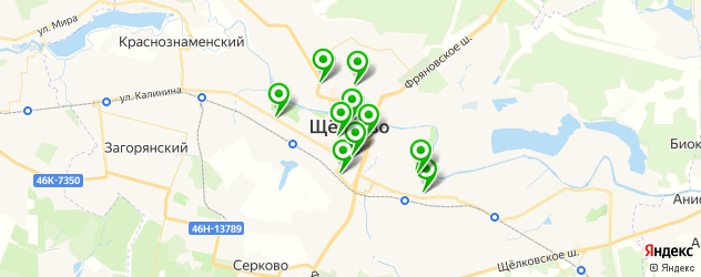 диагностические центры на карте Щелково