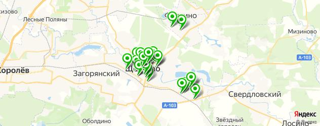 студии загара на карте Щелково
