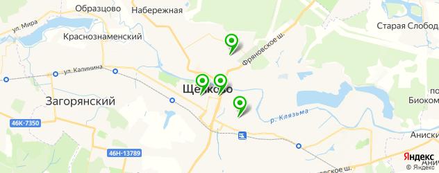 женские фитнес-клубы на карте Щелково