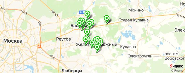 Доставка пиццы на карте Балашихи