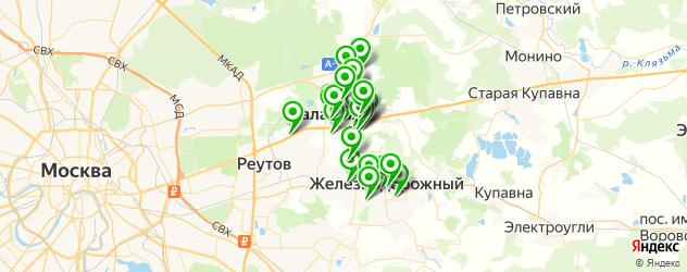 доставка на карте Балашихи