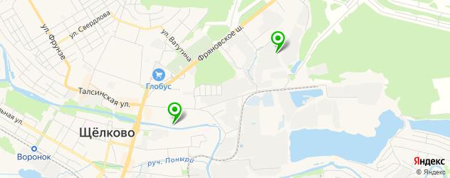 парковки на карте Щелково