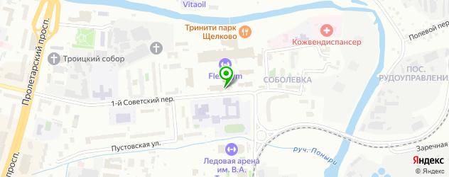 спортивные клубы на карте Щелково
