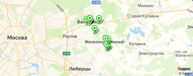 кофейни на карте Балашихи