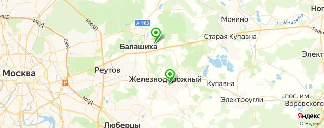 стадионы на карте Балашихи