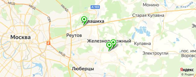 авторазборки на карте Балашихи