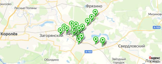 мастерские на карте Щелково