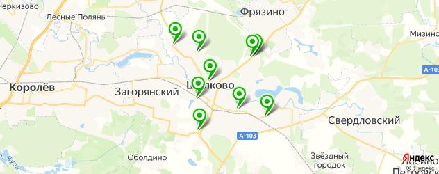 магазины шин и дисков на карте Щелково