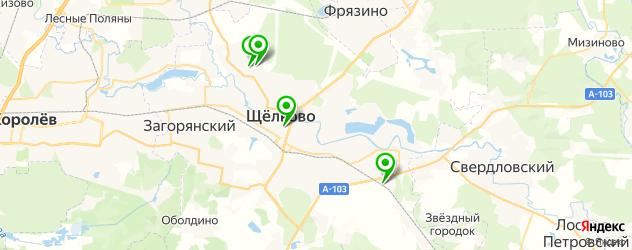 ломбарды на карте Щелково