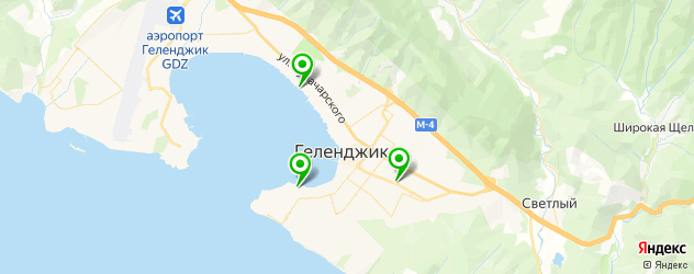 итальянские рестораны на карте Геленджика