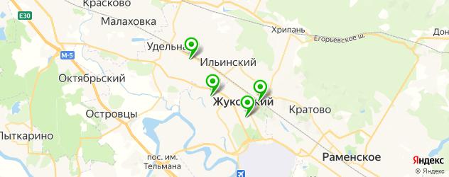 прачечные на карте Жуковского