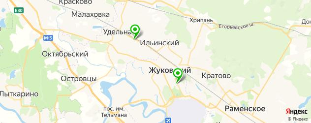 женские фитнес-клубы на карте Жуковского