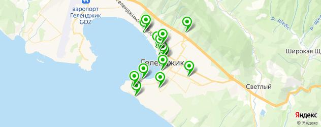 рестораны для дня рождения на карте Геленджика