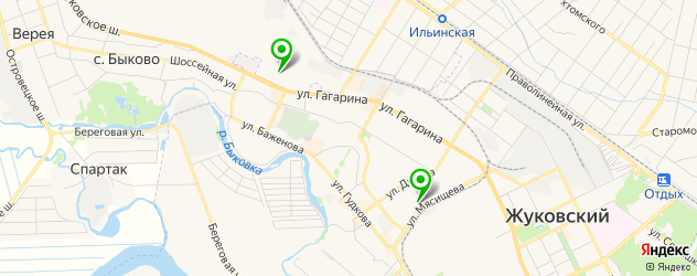магазины автоаксессуаров на карте Жуковского