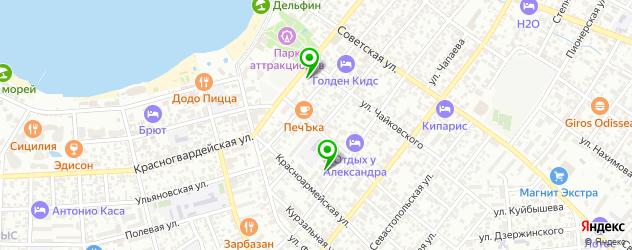 поликлиники на карте Геленджика