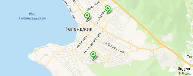детские развлекательные центры на карте Геленджика