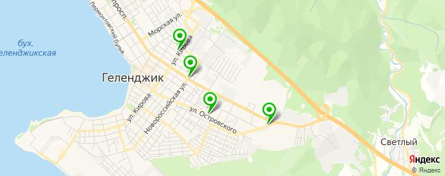 Доставка шашлыка на карте Геленджика