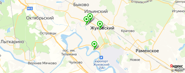 пиццерии на карте Жуковского