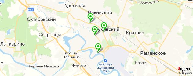 Доставка шашлыка на карте Жуковского