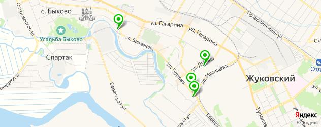 автошколы на карте Жуковского