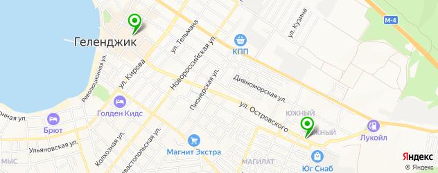 часовые мастерские на карте Геленджика