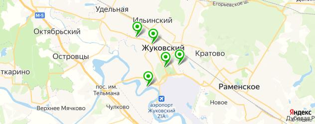 рестораны с танцполом на карте Жуковского