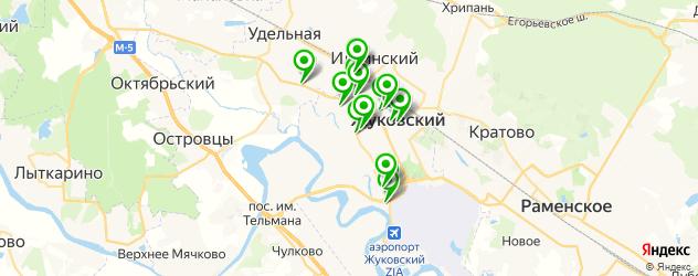 автосервисы на карте Жуковского