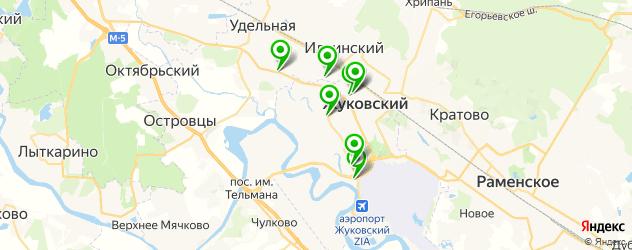 сход-развал на карте Жуковского