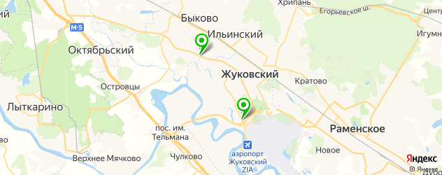 тюнинги ателье на карте Жуковского