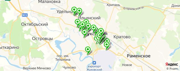 Спорт и фитнес на карте Жуковского